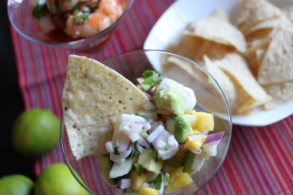 Mexican Shrimp Cocktail and Scallop Ceviche |